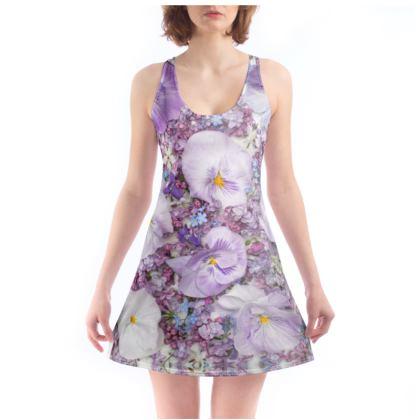 Chemise in Purple Spring Flower Design.