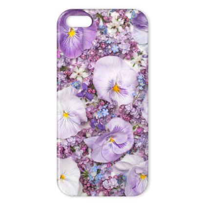 I Phone Cases in Purple Spring Flowers Design