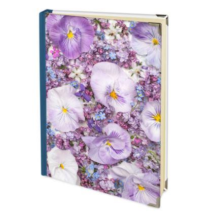 Address Book in Purple Spring Flowers Design