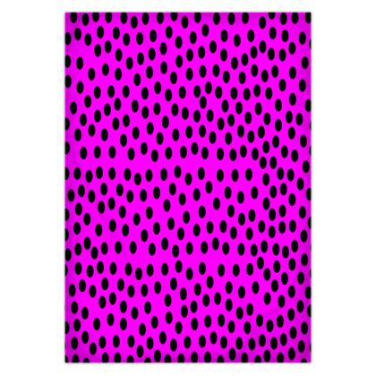 Black Polka Dot Pink Duvet Covers