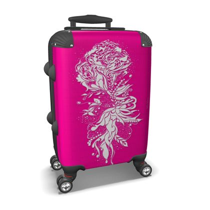 Suitcase (hand luggage) - Resväska  (handbagage) - Flower ink pink