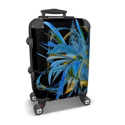 Suitcase (hand luggage) - Resväska  (handbagage) - Golden blue black