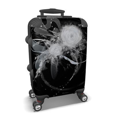 Suitcase (hand luggage) - Resväska  (handbagage) - Black with white black