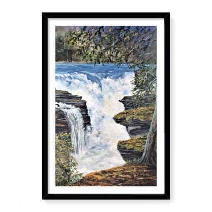 16 x 24 framed art print - waterfall