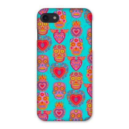 Day of the Dead iPhone 7 Case - Hot Pink and Turquoise