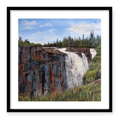 24 x 24 Framed art print - waterfall II