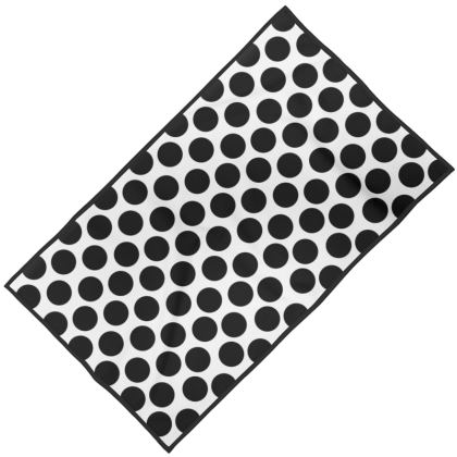 Towel Black Polka Dots