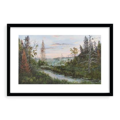 16 x 24 framed art print - Turtle Creek