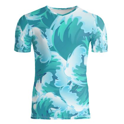 Tropical Wave Men's T-Shirt by Likoca