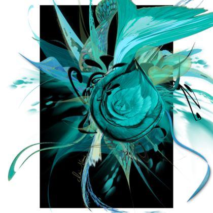 Tunic, T Shirt Dress – Tunika, T-shirt klänning - Turquoise Black