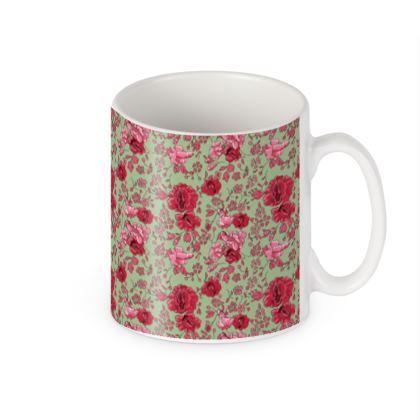 mug Liberty'n vert & rose