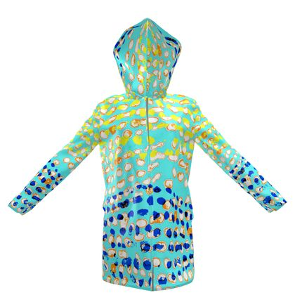 Textural Collection multicolored Womens Hooded Rain Mac