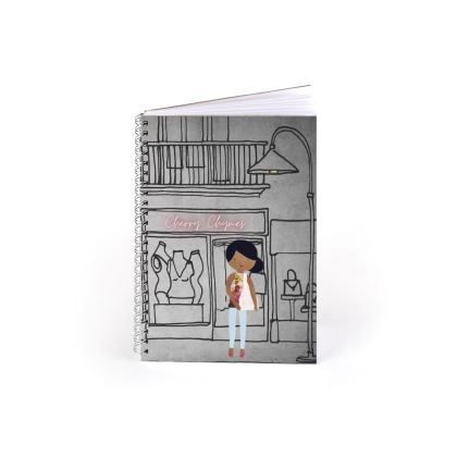 Cherry Chymes Shop Fronts Spiral Notebook