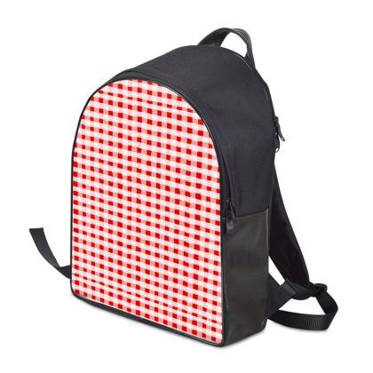 Backpack - Red Ginghams