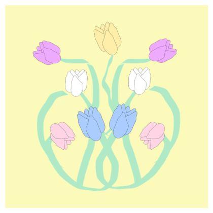 Fruit Bowl Art Nouveau Flowers