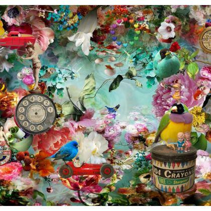 The Secret Garden Shari Fabric Cover