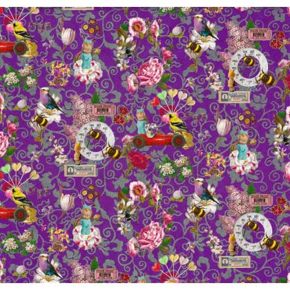 Flower Festival Shari Fabric Cover