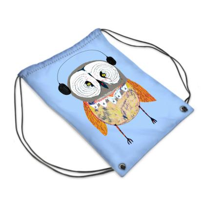 Owl Headphones Swim Bag