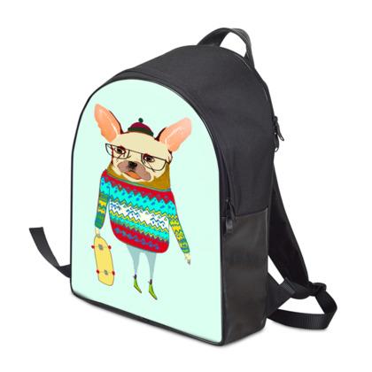 French Bulldog Skater Backpack