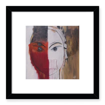 Masked Woman - Frames Art Prints