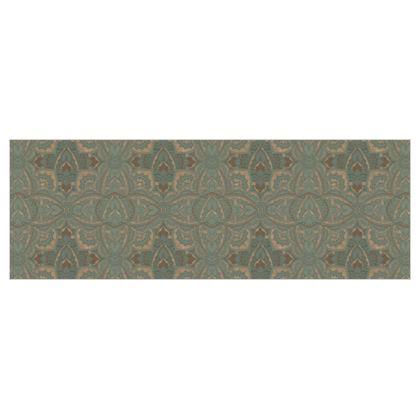 Poly Twill Art deco vintage green fabric