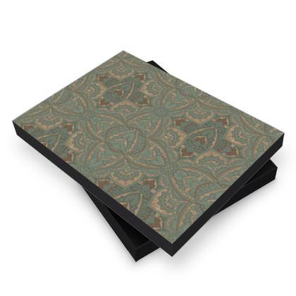 Art deco vintage green & Gold -  photo book box
