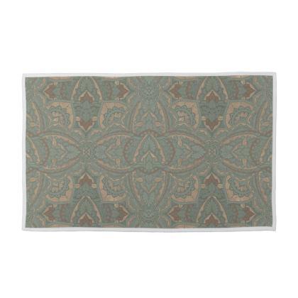 Art deco vintage green & Gold -  Towel Set
