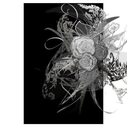 Tunic, T Shirt Dress – Tunika, T-shirt klänning - 50 shades of lace grey black