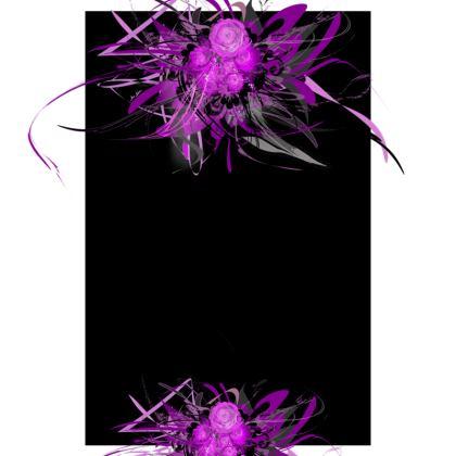 Tunic, T Shirt Dress – Tunika, T-shirt klänning - Lilac black