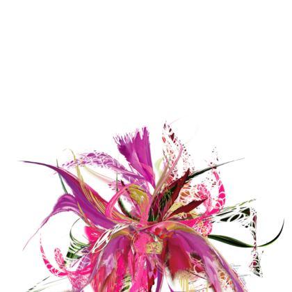 Tunic, T Shirt Dress – Tunika, T-shirt klänning - Pink flow white