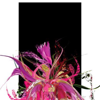 Tunic, T Shirt Dress – Tunika, T-shirt klänning - Pink flow black