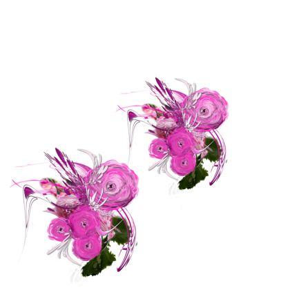 Tunic, T Shirt Dress – Tunika, T-shirt klänning - Pink summer fantasy white