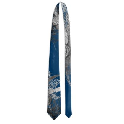 Tie - Slips - 50 shades of lace grey dark blue