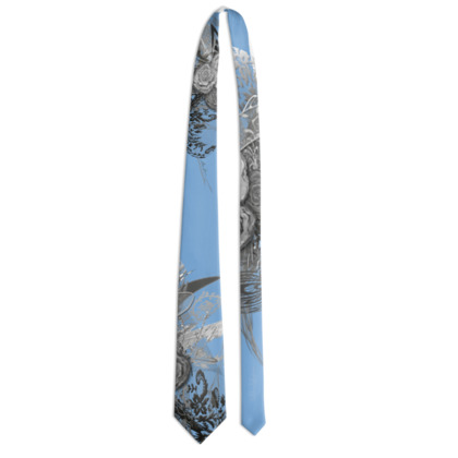 Tie - Slips - 50 shades of lace grey baby blue