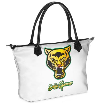 DELLA SPENCER LOGO Zip Top Handbag