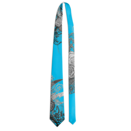 Tie - Slips - 50 shades of lace grey turquoise