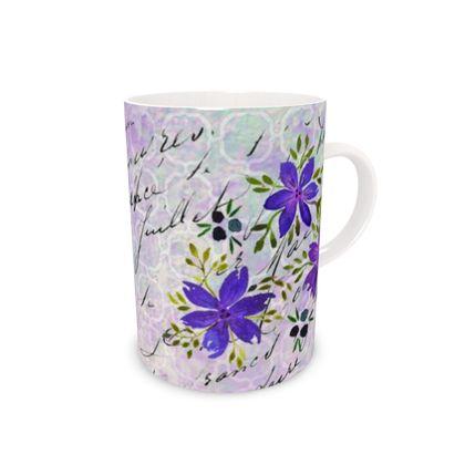 Tall Bone China Mug - Elizabeth (letter)