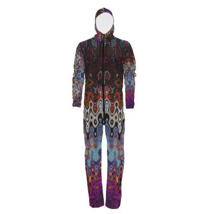 Hazmat Suit Purple Grey Splashes Pattern