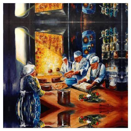 "Plato de decoración ""Alta cocina"""