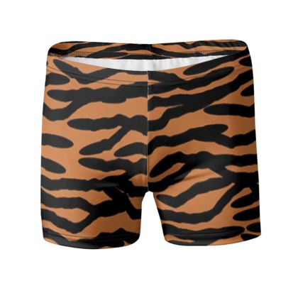Swimming Trunks Tiger Skin Pattern