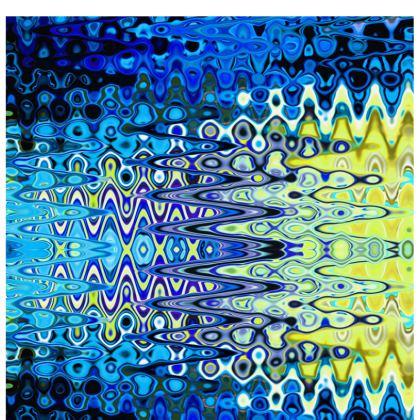 All Over Print T Shirt Blue Lame Horizontal Splashes Pattern
