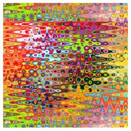 All Over Print T Shirt Horizontal Orange Red Splashes