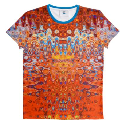 All Over Print T Shirt Orange Splashes