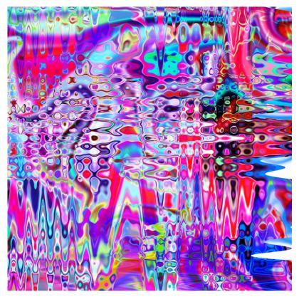 All Over Print T Shirt Horizontal Pink Splashes