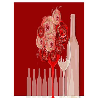 Small Trays - Små Brickor - Wine red
