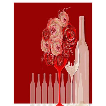 Big Trays - Stora Brickor - Wine red