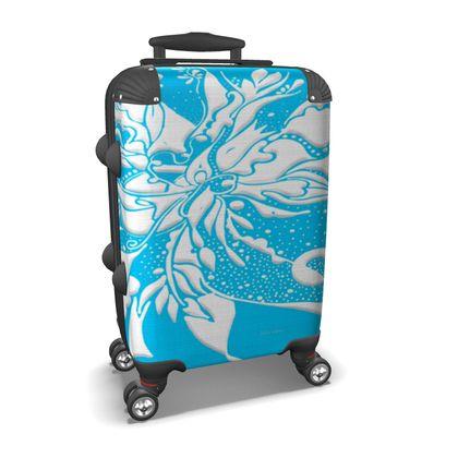 Suitcase (hand luggage) - Resväska  (handbagage) - Ink light blue