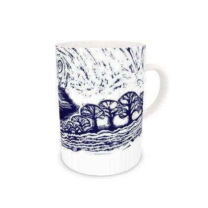 Glastonbury Tor Bone China mugs