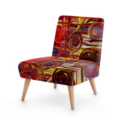 Occasional Chair Red Roses Painting