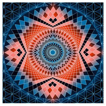 All-Over Print T-Shirt Red Blue Mandala